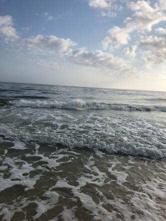 Ocean waves coming to shore